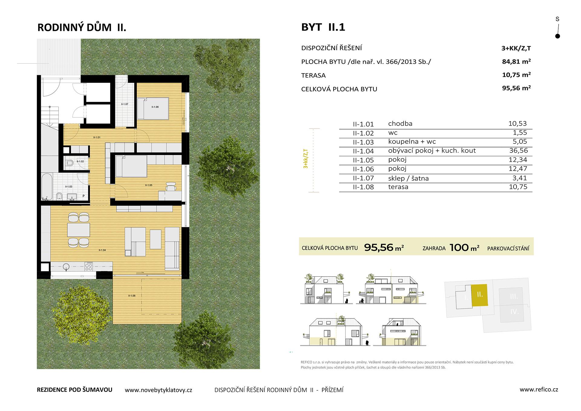 Dům II., byt 1, přízemí, 3+KK/Z,T