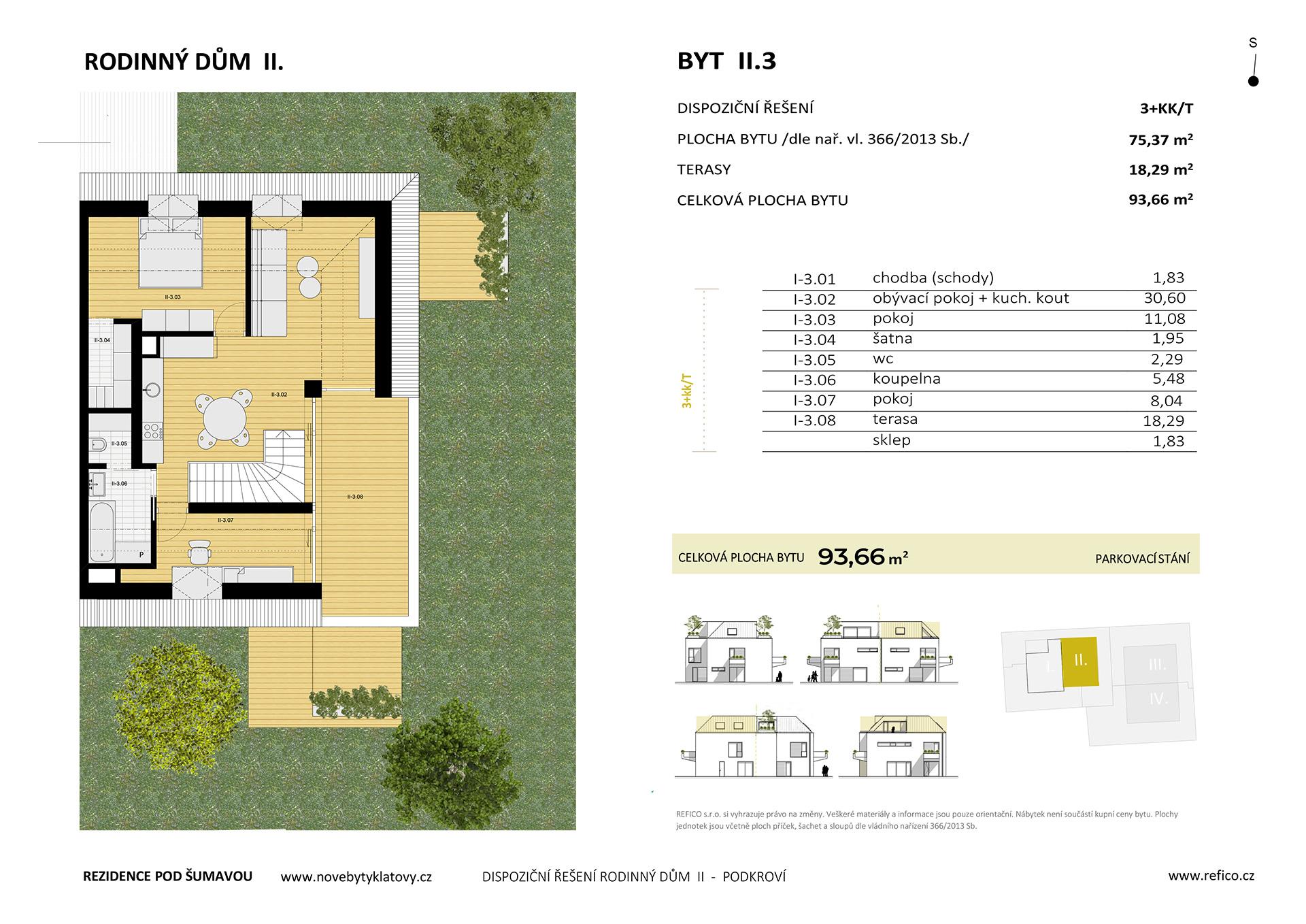 Dům II., byt 3, podkroví, 3+KK/T